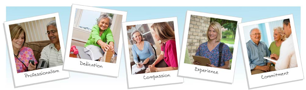 San Diego home health care photo collage